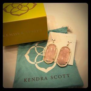 "Kendra Scott ""Danielle"" earrings in Rose Quartz"